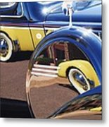 1937 Cord 812 Phaeton Reflected Into Packard Metal Print