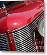 1937 Desoto Front Grill And Head Light 7285 Metal Print