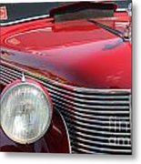 1937 Desoto Front Grill And Head Light-7289 Metal Print