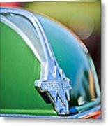 1937 International D-2 Station Wagon Hood Emblem -2652c Metal Print