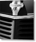 1937 International D2 Pickup Truck Grille Emblem Metal Print