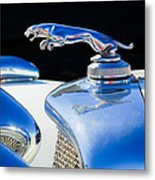 1937 Jaguar Prototype Hood Ornament -386c55 Metal Print