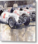1937 Monaco Gp Team Mercedes Benz W125 Metal Print