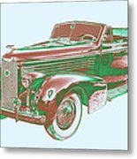 1938 Cadillac Lasalle Antique Pop Art Metal Print