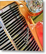 1938 Chevrolet Coupe Grille Emblems Metal Print