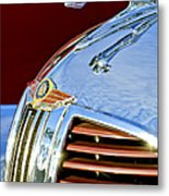 1938 Dodge Ram Hood Ornament 3 Metal Print by Jill Reger