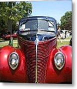 1938 Ford Two Door Sedan Front View Metal Print
