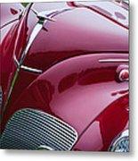 1938 Lincoln-zephyr Convertible Coupe Grille - Hood Ornament - Emblem Metal Print