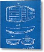 1938 Rowboat Patent Artwork - Blueprint Metal Print