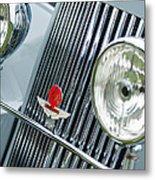 1939 Aston Martin 15-98 Abbey Coachworks Swb Sports Grille Emblems Metal Print