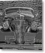 1939 Chevy Immenent Front Bw Art Metal Print