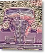 1939 Chevy Immenent Front Color Metal Print