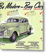 1939 Imperial Vintage Automobile Ad Metal Print