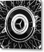 1939 Mercedes-benz 540k Special Roadster Wheel Rim Emblem Metal Print