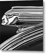 1939 Pontiac Silver Streak Hood Ornament 3 Metal Print