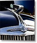 1940 Chevy Coupe Hood Ornament Metal Print