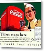 1940 - Coca-cola Advertisement - Color Metal Print