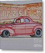 1940 Ford Coupe Illustration Metal Print