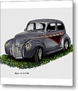 1940 Ford Custom Street Rod Metal Print