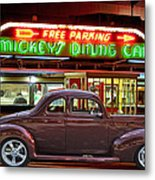 1940 Ford Deluxe Coupe At Mickeys Dinner  Metal Print