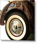 Classic Maroon 1940 Ford Rear Fender And Wheel   Metal Print