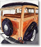 1940 Ford Woody Metal Print