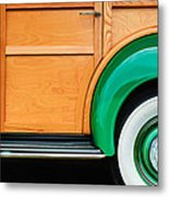 1940 Packard 120 Woody Station Wagon Wheel Emblem Metal Print