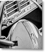 1940 Plymouth Deluxe Woody Wagon Steering Wheel Emblem -0116bw Metal Print