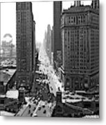 1940s Downtown Skyline Michigan Avenue Metal Print