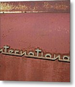 1940s Era International Harvester Truck Insignia Metal Print