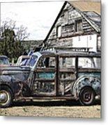 1940s Era Packard Wood-panel Wagon Metal Print
