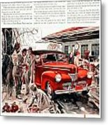 1941 - Ford Super Deluxe Automobile Advertisement - Color Metal Print