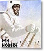 1941 - German Waffen Ss Norway Recruitment Poster - Nazi - Color Metal Print