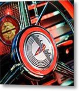 1941 Buick Eight Special Steering Wheel Emblem Metal Print