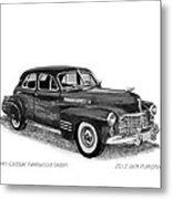 1941 Cadillac Fleetwood Sedan Metal Print