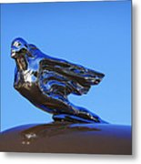 1941 Cadillac Series 62 Coupe Hood Ornament Metal Print