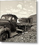 1941 Chevy Truck In Sepia Metal Print