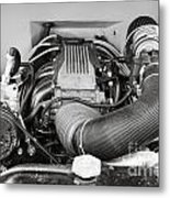 1941 Ford Pickup Engine Motor  Classic Automobile In Sepia 3082.01 Metal Print
