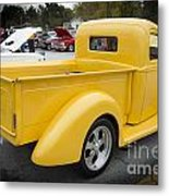 1941 Ford Pickup Truck Side View  Classic Automobile In Color 30 Metal Print