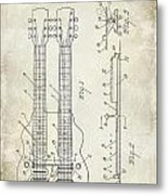 1941 Gibson Electric Guitar Patent Drawing Metal Print