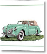 1941 Lincoln V-12 Continental Metal Print