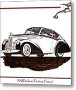 Packard Custom Coupe 120 Metal Print