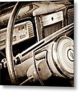 1941 Packard Steering Wheel Emblem Metal Print