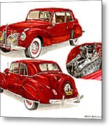 1941 V 12  Lincoln Continental Metal Print