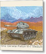 1941 W W I I Patton Tank Metal Print