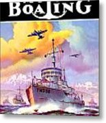 1942 - Motor Boating Magazine Cover - October - Color Metal Print