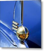 1942 Lincoln Zephyr 12 Hood Ornament Metal Print