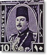 1944 King Farouk Egypt Stamp  Metal Print