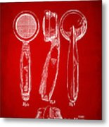 1944 Microphone Patent Red Metal Print