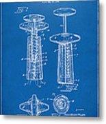 1944 Wine Corkscrew Patent Artwork - Blueprint Metal Print